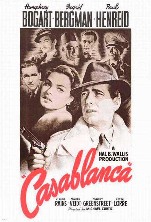 Casablanca Poster-Gold